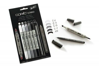 Copic CIAO Marker 5+1 SET: Grautöne - cool grey ( 22075554 ) + Multiliner