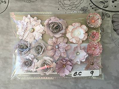 Crafting Variety Packs a selection of Handmade Paper Flower Embellishments