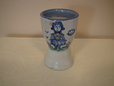 "PRICE REDUCED!!  M. A. Hadley Pottery ""Farmers Wife"" Egg Cup"