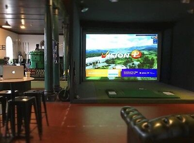 *Gift Voucher* Golf Simulator Experience For Up To 6 People / Xmas Idea For Dad