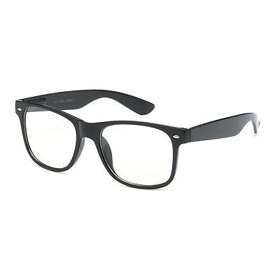 KIDS Childrens Nerd Retro Oversize Black Frame Clear Lens Eye Glasses (Age 3-10)