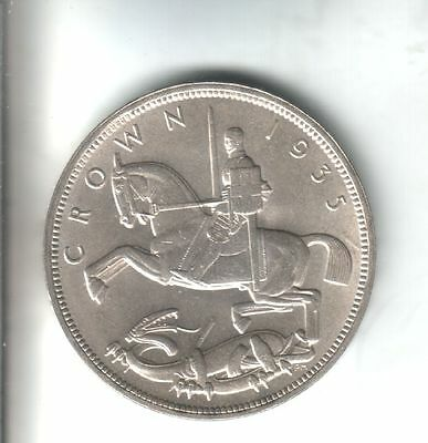 "1935 George V Silver ""Rocking Horse"" Crown. A/Uncirculated. Lustrous."