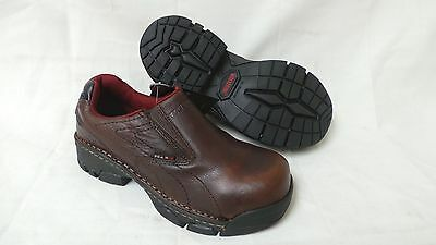 6143914cf52 NEW! WOLVERINE WOMEN'S Ayah Slip On Composite Toe Work Shoe Style W02672  Brown