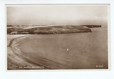 Postcard. Broadhaven. The Beach. Real Photo. 1959