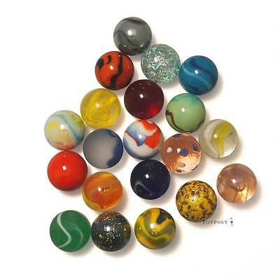 20 x 22mm Medium Size assorted Glass Marbles