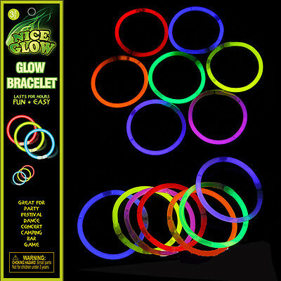 Party Supply Glow Bracelet Light Up Toy Glowing in Dark Festival Christmas