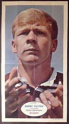 Scanlens Rugby League Football Card # 22 Fulton Manly Eagles 1971  Large Poster