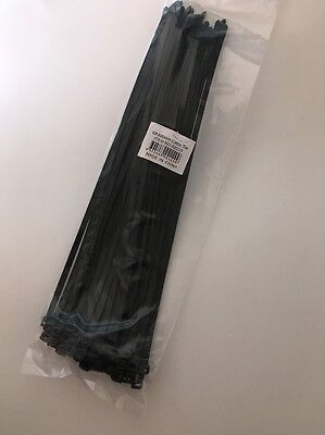 6mm X 300mm | Nylon Cable Tie | 50 Pcs | Black | Australian Stock