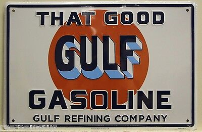 GULF metal sign THAT GOOD GULF 12 X 18 gasoline gas & oil service station