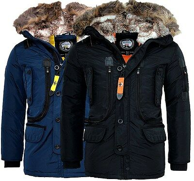 Geographical Norway Muy cálido chaqueta invierno hombre Outdoor Parka Anorak