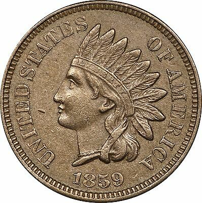 1859 Indian Head Cent, About Uncirculated AU
