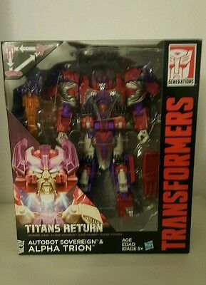 Hasbro Transformers Titans Return Voyager Class Autobot Sovereign & Alpha Trion