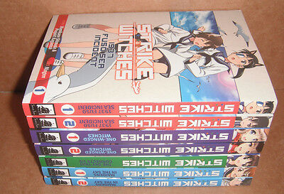 Lot of 7 Strike Witches Manga Graphic Novels Complete Set English