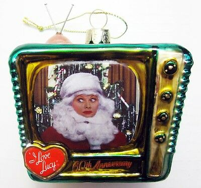 I Love Lucy Hand Painted & Crafted Glass Tv Lucille Ball 2016 Christmas Ornament