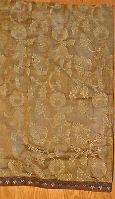 Antique Turkish brocade pillow cover