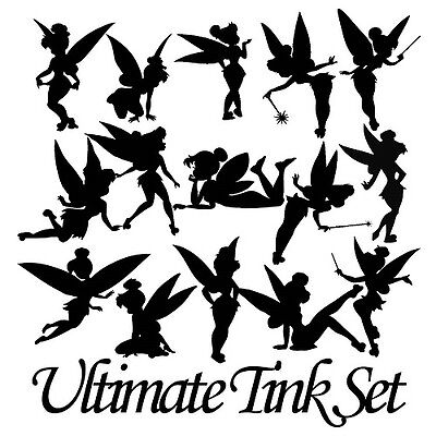Die Cut Outs Silhouette fairy shapes x 15 Tinkerbell, scrapbook, Fairy jar,