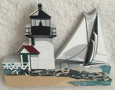 Sheila's Historic Facades Brant Point Lighthouse Nantucket In Box W Trading Card
