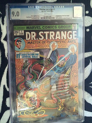 Dr. Strange #1 CGC 9.0 white pages 1st appearance of Silver Dragon