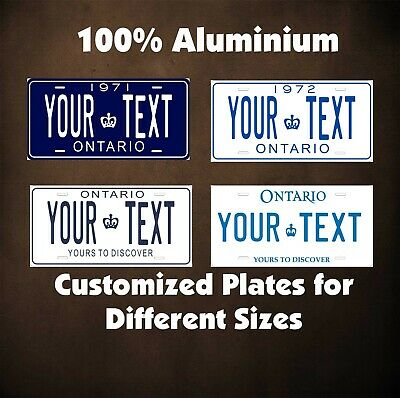 Ontario Canada Tag Car Auto OR Motorcycle Custom Personalized License Plates