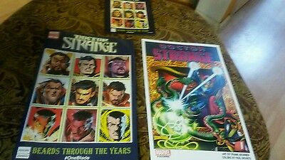 Doctor Strange Nycc 2016  Norelco Promo Comic + Poster Frank Brunner And Card