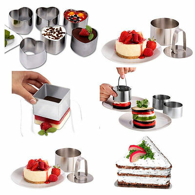 4 Style Nice Stainless Steel Mousse Cake Ring Mold Layer Slicer Cook Cutter Bake