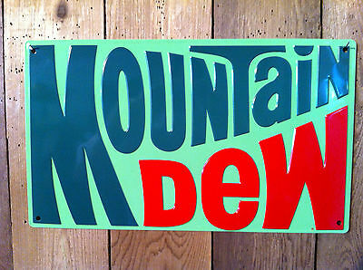 Mountain Dew Embossed Tin Sign-USA Ships from WA