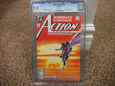 Action Comics 598 cgc 9.8 1st appearance of Checkmate Superman 1988 DC WHITE pgs