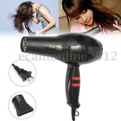 PX-3803 220V 1800W Salon Professional Hair Dryer 2 Heat Speed Blower with Nozzle
