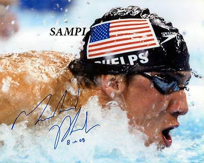 Michael Phelps Reprint Autographed Signed Picture Photo Collectible Olympics Rp