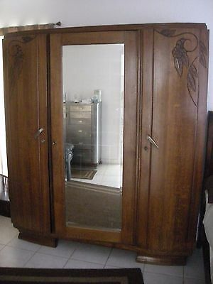 Vintage French Armoire.  Nice condition.  1930s?   Deco