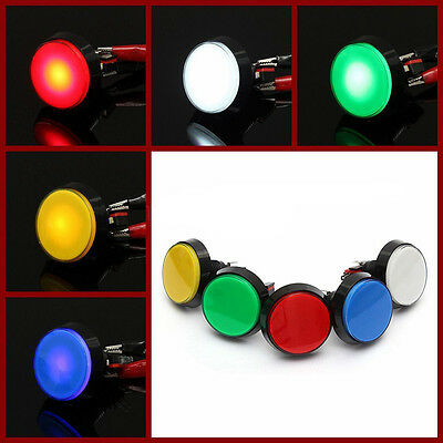 60mm Chic LED Light Big Round Arcade Video Game Player Push Button Switch Lamp