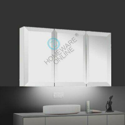 1200 x720x150mm Bevel Edge Bathroom Vanity Shaving Medicine Mirror Cabinet Gloss