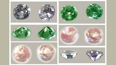 Two 19thC Antique Handcrafted Genuine Natural Ru Color-Change Alexandrites 2.5mm