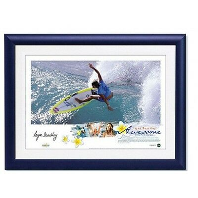 """Layne Beachley Hand Signed And Framed Surfing """"awesome"""" Lithograph Ripcurl"""