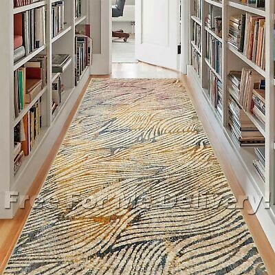 HERVEY PALM WAVES COLOURFUL MODERN FLOOR RUG RUNNER 80x400cm **FREE DELIVERY**