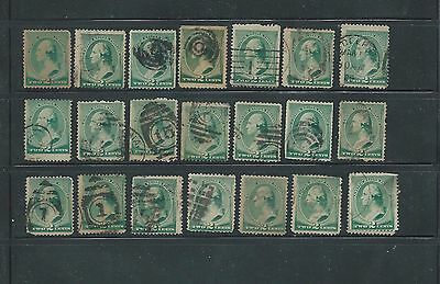 Lot of same stamp 21 included USED 2 cent George Washington CV $3.00 each=$63.00