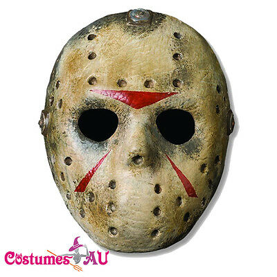 Jason Voorhees Mask Mens Hockey Halloween Friday the 13th Costume Accessory