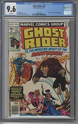 GHOST RIDER #27 CGC 9.6 WHITE Pages Marvel Bronze Age