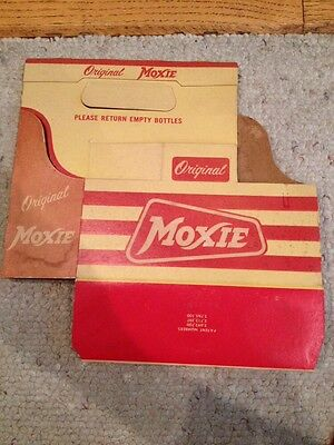 Original Moxie Soda Pop 6 Bottle Paper Carrying Container Case