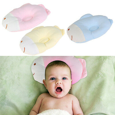 Newborn Baby Infant Cotton Pillow Prevent Flat Head Support Neck For Pram/Crib