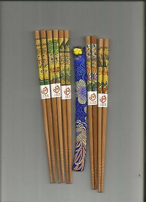 Japanese Colorful Scenery  Chopsticks With Free Silk Holder