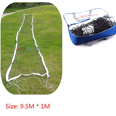 32*3 Ft Volleyball Net Black Line Beach In/Outdoor Sports (NO Frame) + Bag