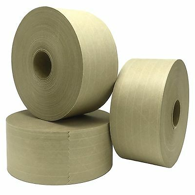 """Lot of 3 Central K7450 260 Grade Reinforced Water Activated Tape, 3"""" x 450'"""