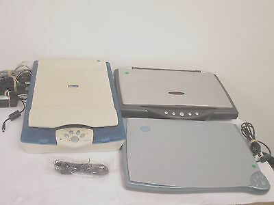 3 x MUSTEK / XEROX Office Flatbed Scanners + PSU 1200 / 2400 *Working* inc. VAT