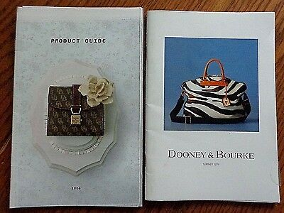 Two Dooney & Bourke Catalogs Summer 2009 & 2006 Full Product Fabric Color Guide