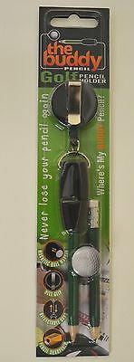 The Buddy Pencil - Golf Pencil and Retractable Holder with Ball Marker Included