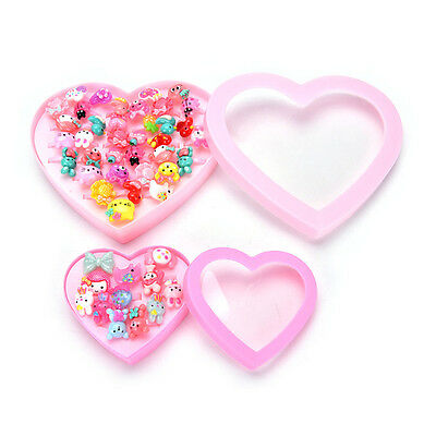 12/36X Cute Mixed Cartoon Resin Rings Kid Children Gift Party Bag Filler For Kid