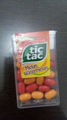 TIC TAC MELON WATERMELON T Fruit Flavoured CANDY ( PACK OF 6 ) free shipping