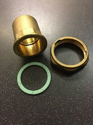 """PUMP UNION LONG 1.1/2"""" FEMALE x 1"""" FEMALE BRASS CENTRAL HEATING SOLD IN PAIRS"""