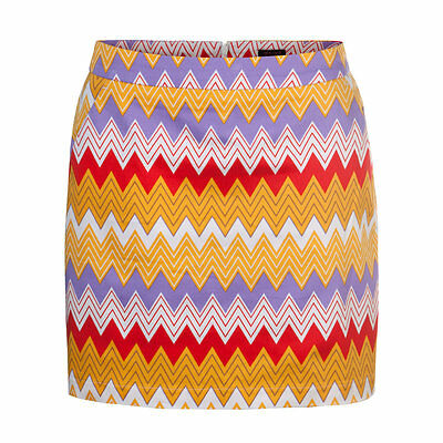 Girls Golf  Skirt 4 Pockets Zigzag rot